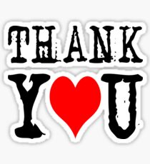 Thank you on black Sticker
