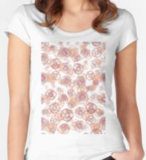 Flower Pattern PNG Women's Fitted Scoop T-Shirt
