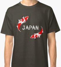 koi, fische, japan, sammler, teich, sushi, rot weiß, dekorativ, karpfen, Classic T-Shirt