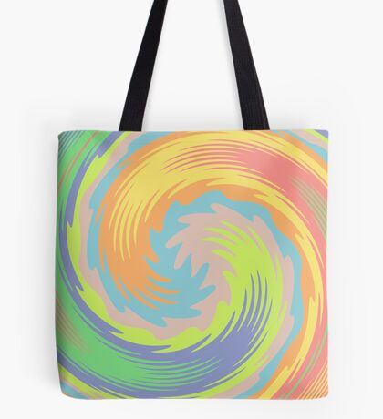 Abstract Twirl Wave Tote Bag