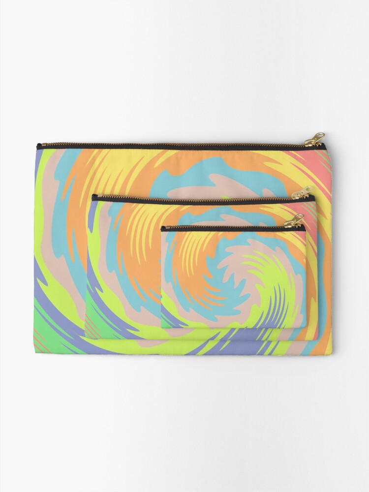 Alternate view of Abstract Twirl Wave Zipper Pouch