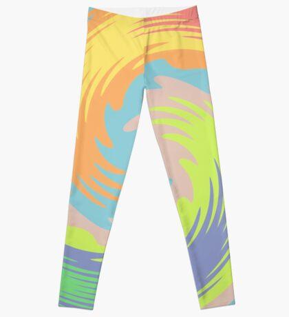 Abstract Twirl Wave Leggings