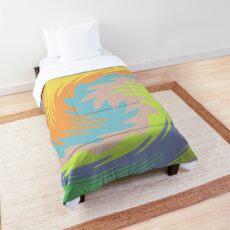 Abstract Twirl Wave Comforter