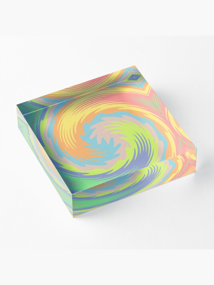 Alternate view of Abstract Twirl Wave Acrylic Block