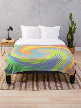 Abstract Twirl Wave Throw Blanket
