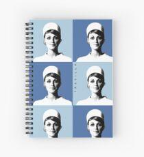 Stewardess Sharon Tate Warhol Blue Spiral Notebook