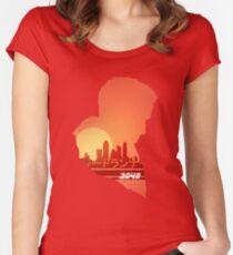 Blade Runner 2049 Sonnenuntergang Tailliertes Rundhals-Shirt