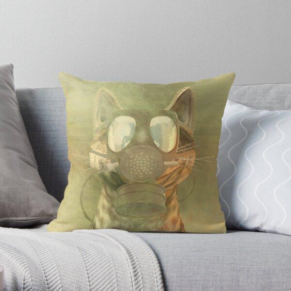 Schrödinger underestimates the cat Throw Pillow