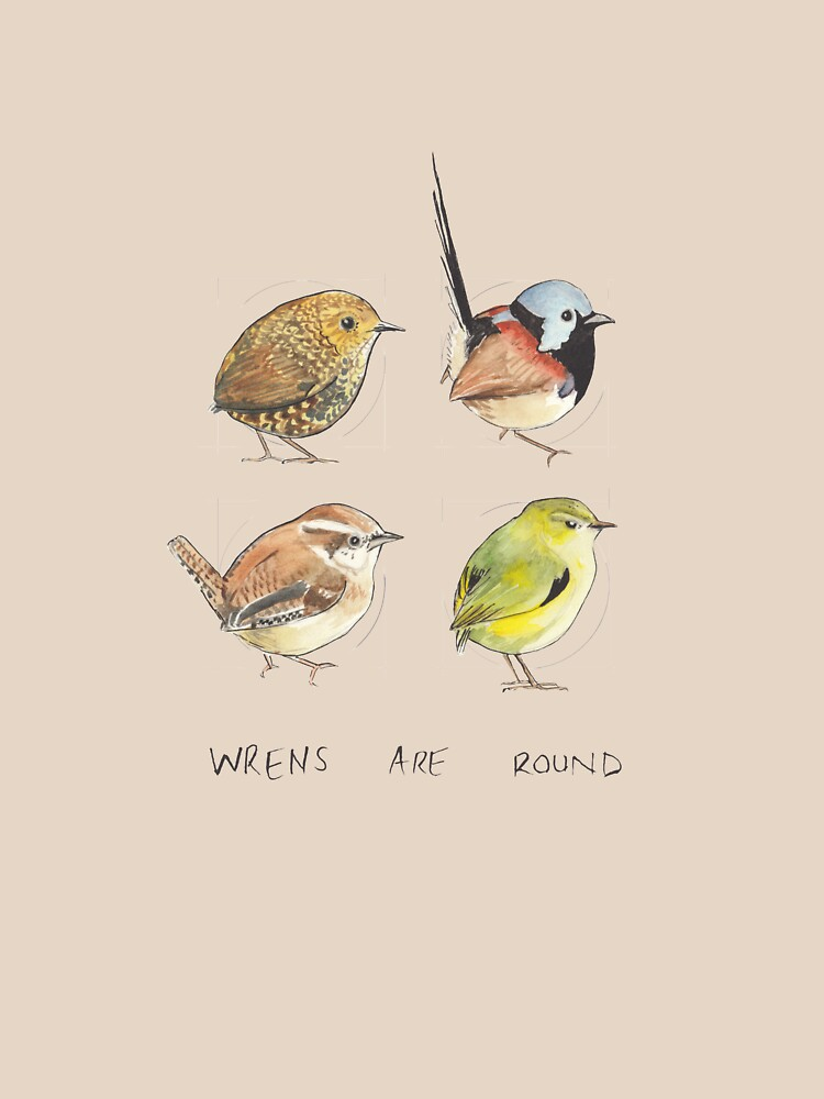 Wrens are round (square) by E-M-Wood