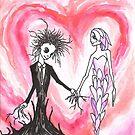 Baum-Junge und Blumen-Mädchen von Anthony McCracken