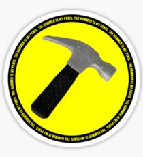 The Hammer (is my penis) Sticker
