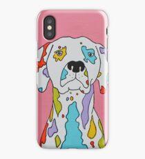 Coloured Dalmatian  iPhone Case