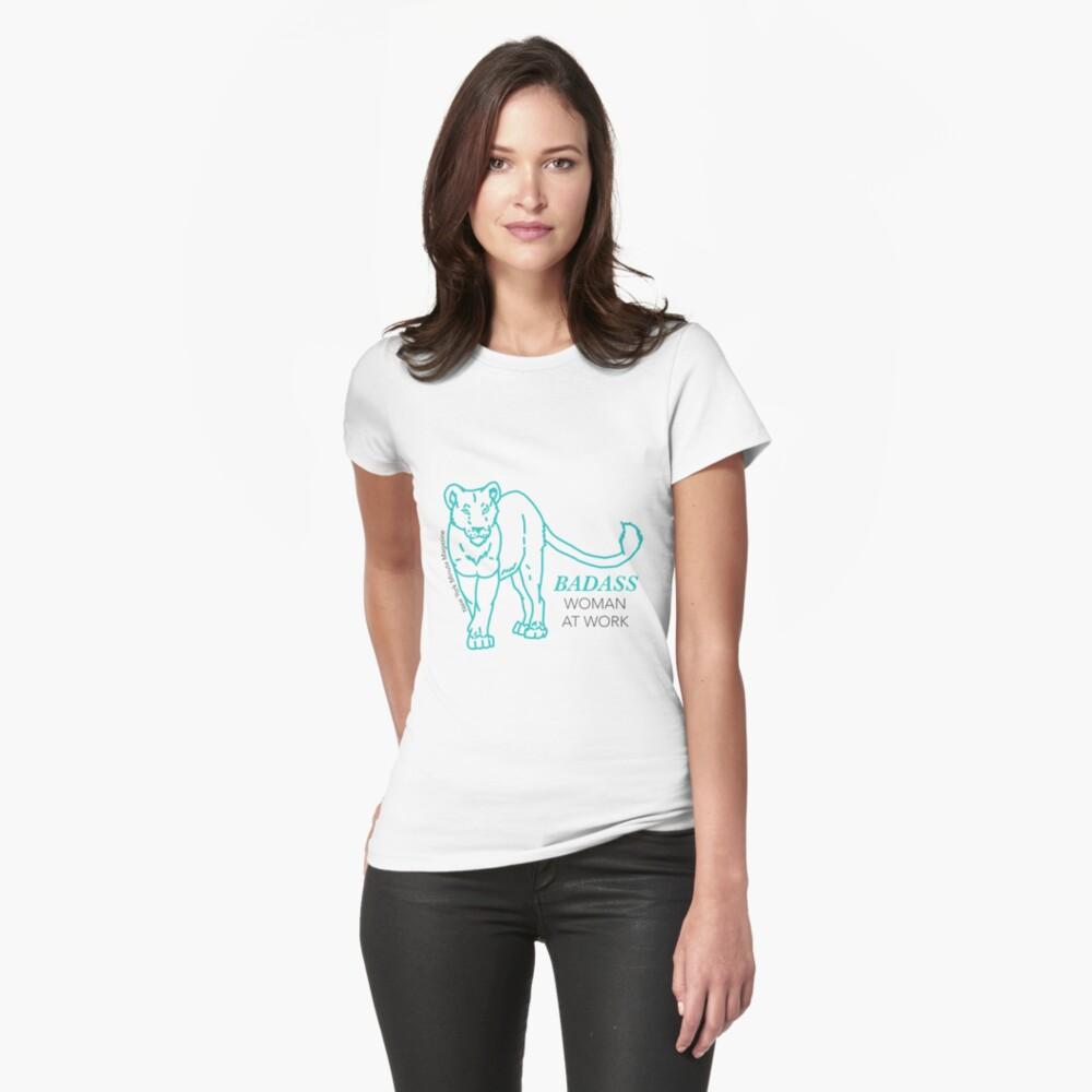 Badass Woman at Work Women's T-Shirt Front