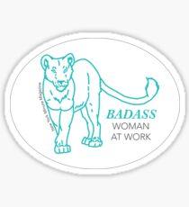 Badass Woman at Work Sticker