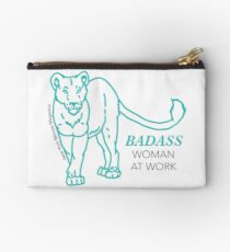 Badass Woman at Work Studio Pouch