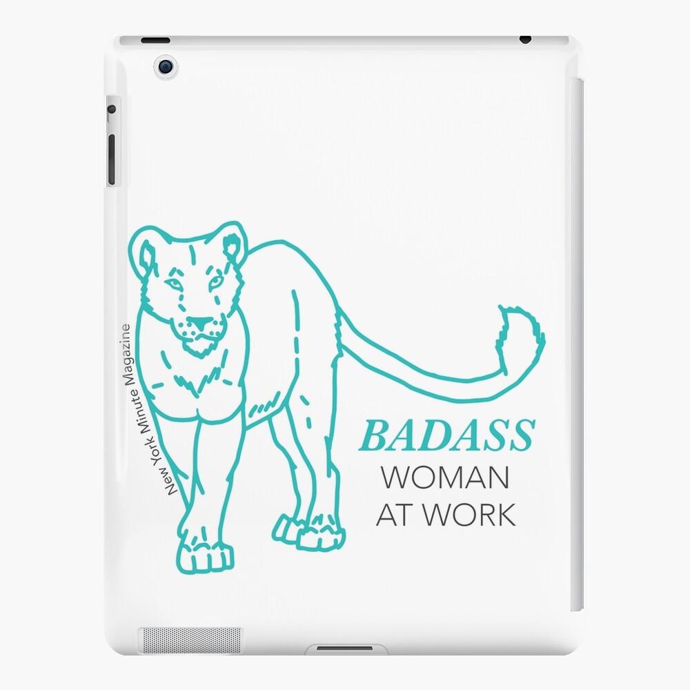 Badass Woman at Work iPad Case & Skin