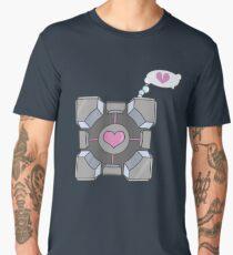 Portal Companion Cube Heartbroken Men's Premium T-Shirt