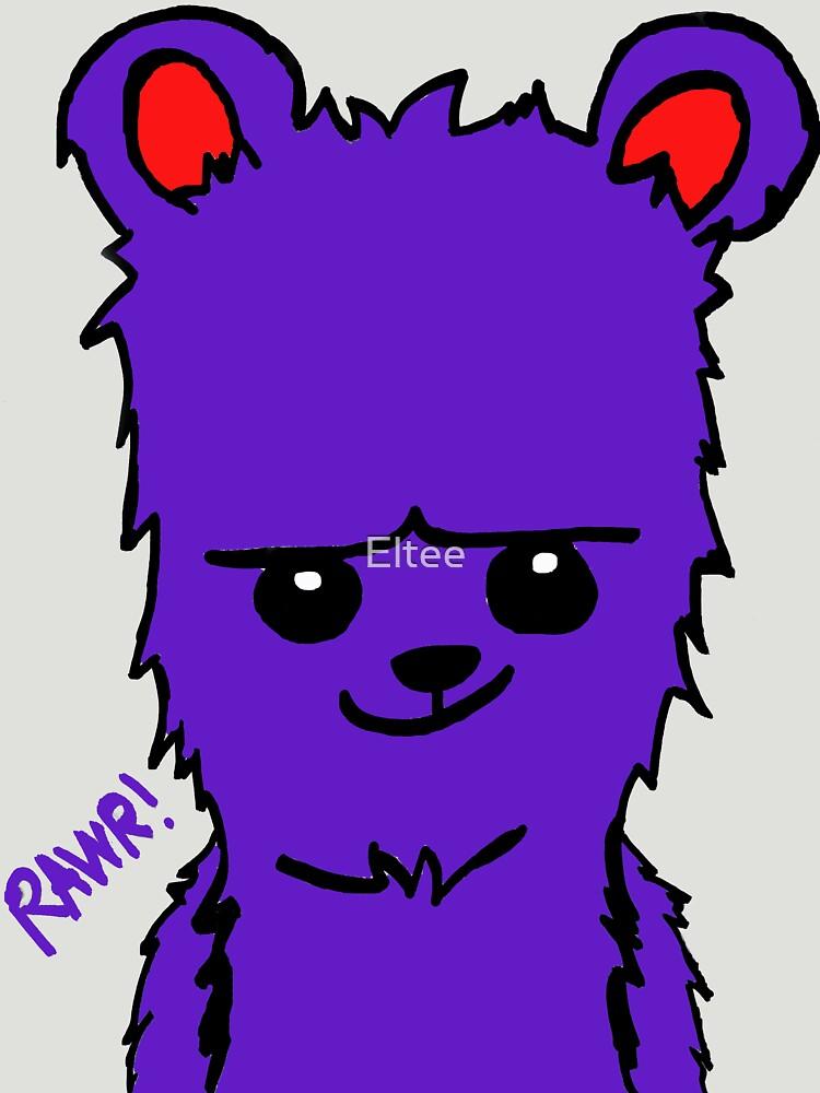 Bear! Purple by Eltee