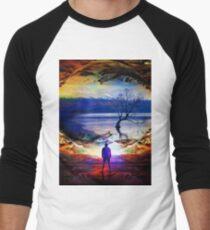 Edge Of Time Men's Baseball ¾ T-Shirt