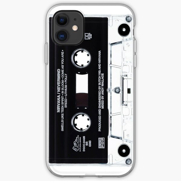 Music Tape Cover Nirvana Grunge  iPhone Soft Case