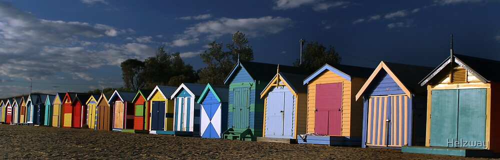 Beach Huts  by Helzway