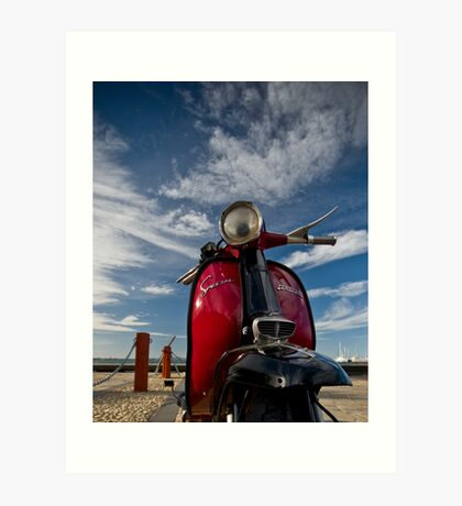little red scooter... Art Print
