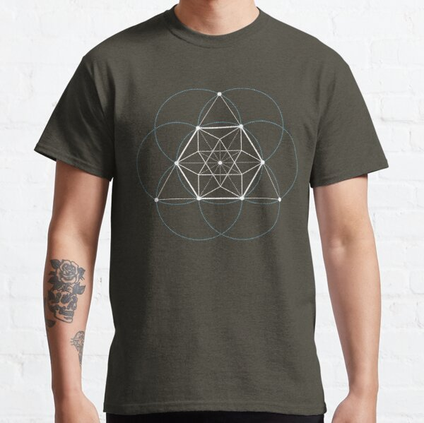 Tetractys With Cuboctahedron and Circles Classic T-Shirt