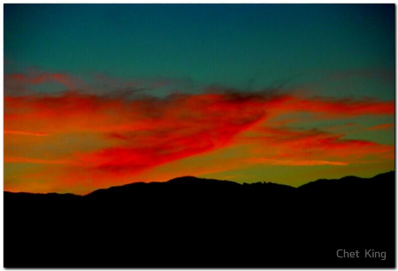 Sunset On Interstate 15 by Chet  King