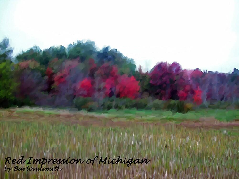 Red Impression of Michigan by Michelle BarlondSmith