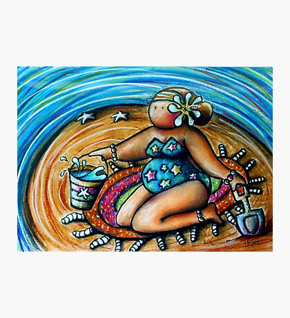 Bucket and Spade Maiden Photographic Print