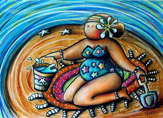 Bucket and Spade Maiden by Karin Taylor