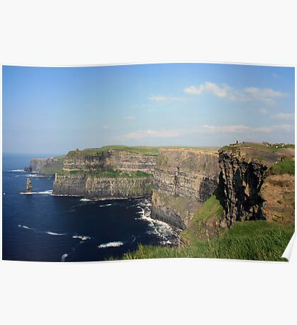 Cliffs of Moher view 2 Poster
