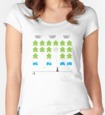 Meeple Invaders Fitted Scoop T-Shirt