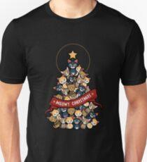 Meowy christmas funnyshirt Unisex T-Shirt