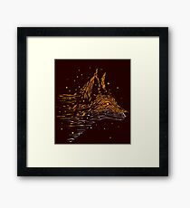 falling in leaves Framed Print