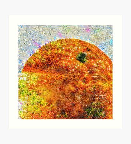 #DeepDreamed Frozen Orange Art Print