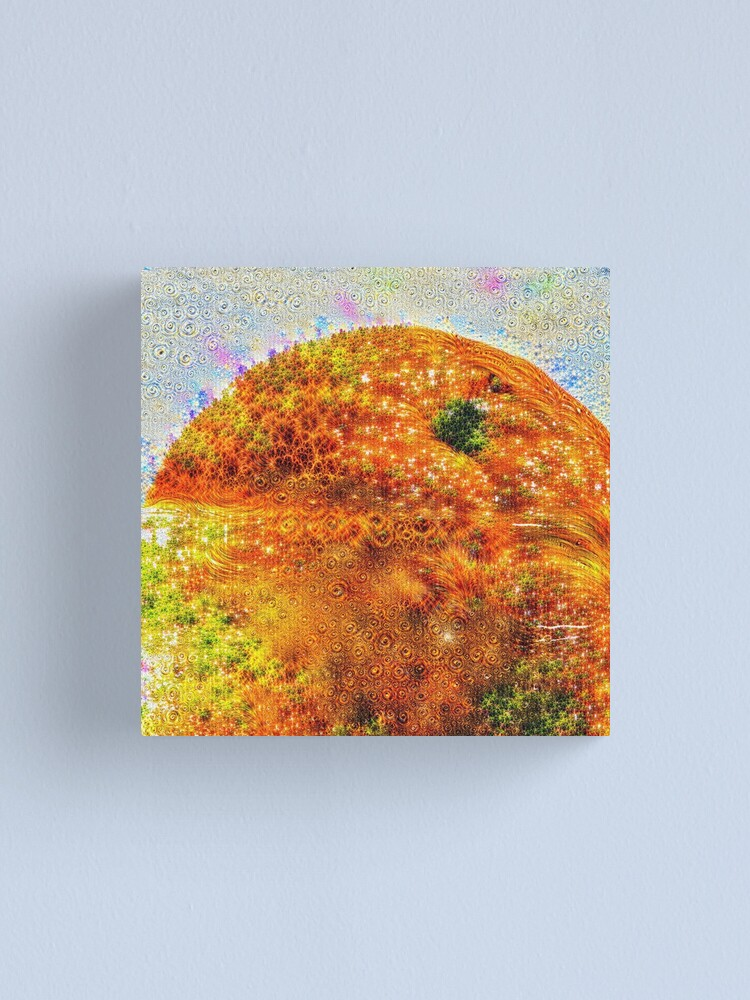Alternate view of #DeepDreamed Frozen Orange Canvas Print