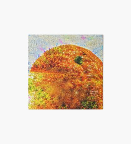 #DeepDreamed Frozen Orange Art Board Print