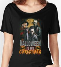 Halloween Is My Christmas: Horror Icons Women's Relaxed Fit T-Shirt
