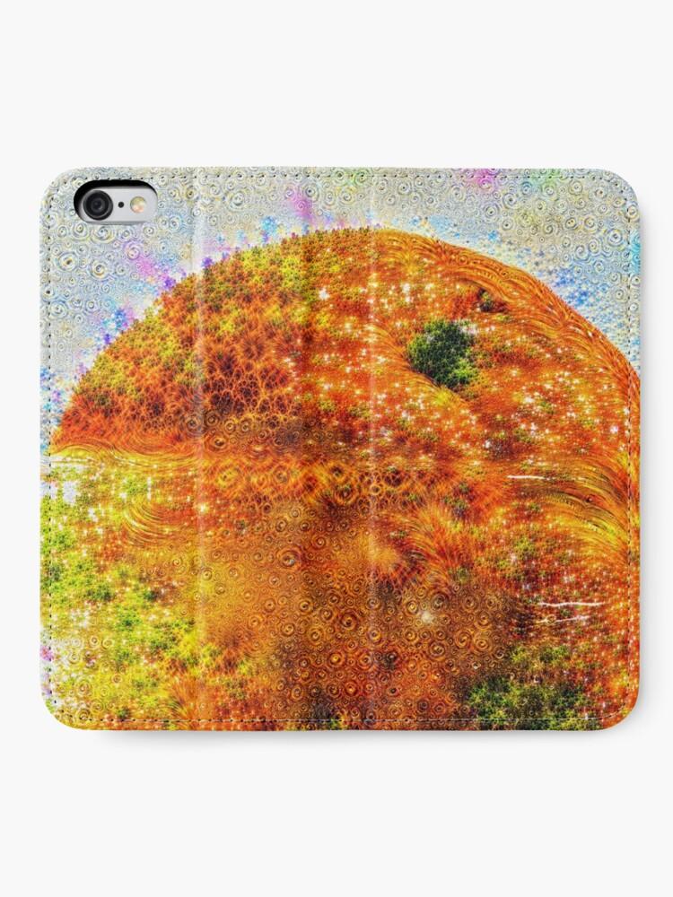 Alternate view of #DeepDreamed Frozen Orange iPhone Wallet