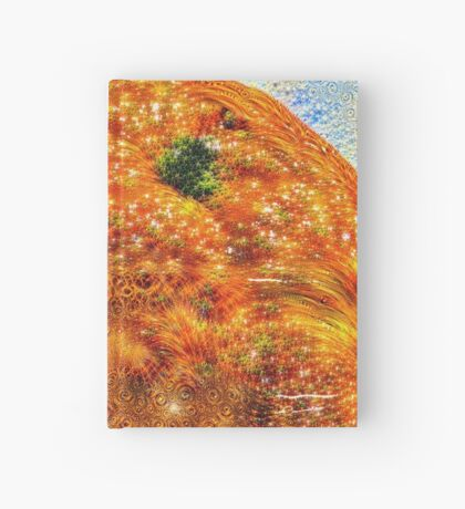 #DeepDreamed Frozen Orange Hardcover Journal
