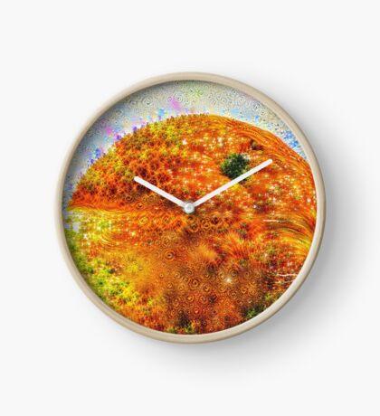 #DeepDreamed Frozen Orange Clock