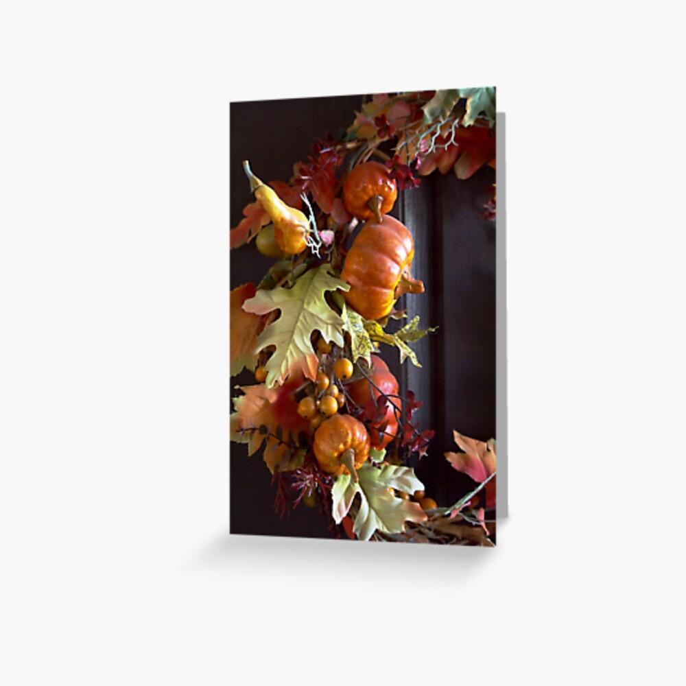Autumn Wreath Greeting Card