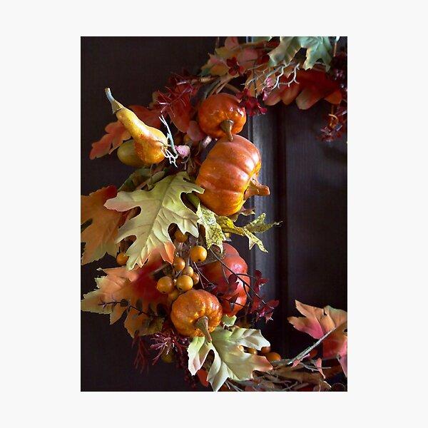Autumn Wreath Photographic Print