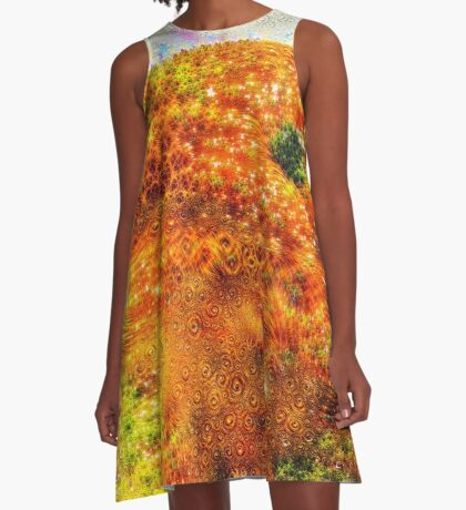 #DeepDreamed Frozen Orange A-Line Dress