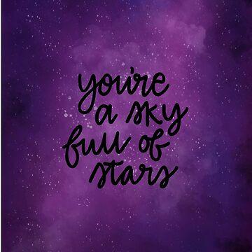 """""""Eres un cielo lleno de letras de las estrellas"""" de bloemsgallery"""