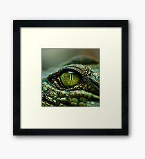 Eye of the Crocodile [iPad / Phone cases / Prints / Decor] Framed Print