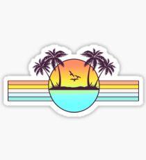Pegatina Puesta de sol de los 80