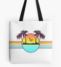 80s Sunset Tote Bag