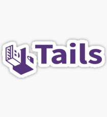 tails linux distribution Sticker